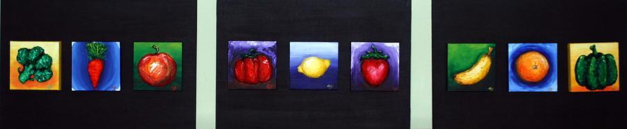 Fruit Relief - Fruit And Veggies by Alison  Galvan
