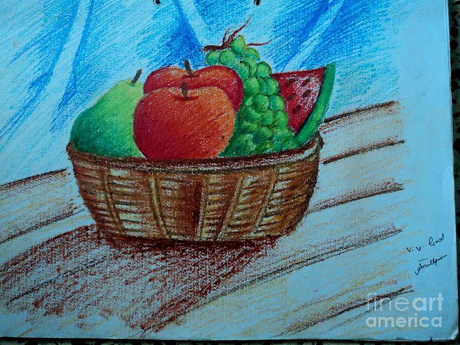 Fruit Basket Painting by Tanmay Singh