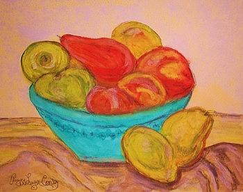Pears Painting - Fruit Bowl by Peggy Leyva Conley