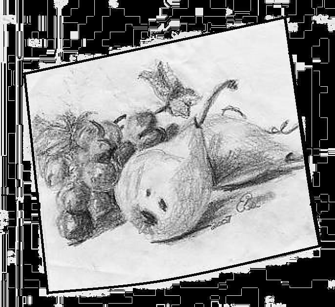 Grapes Drawing - Fruit by Gail Schmiedlin