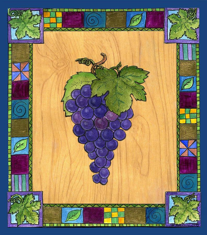 Grapes Painting - Fruit Of The Vine by Pamela  Corwin
