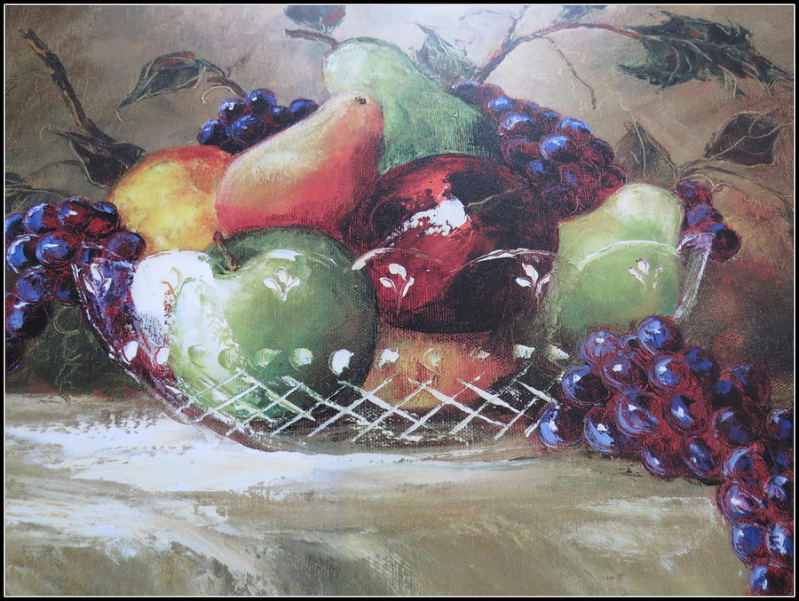 Grapes Photograph - Fruit Still-life  by Kay Novy