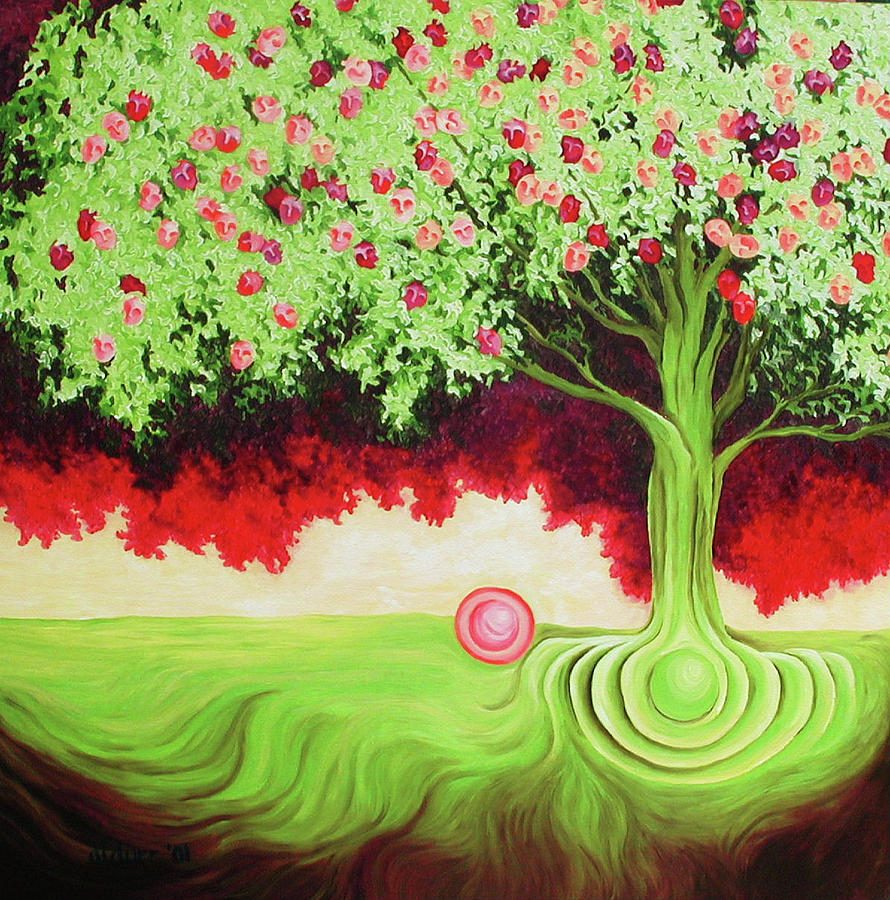 Tree Painting - Fruit Tree by Diana Durr
