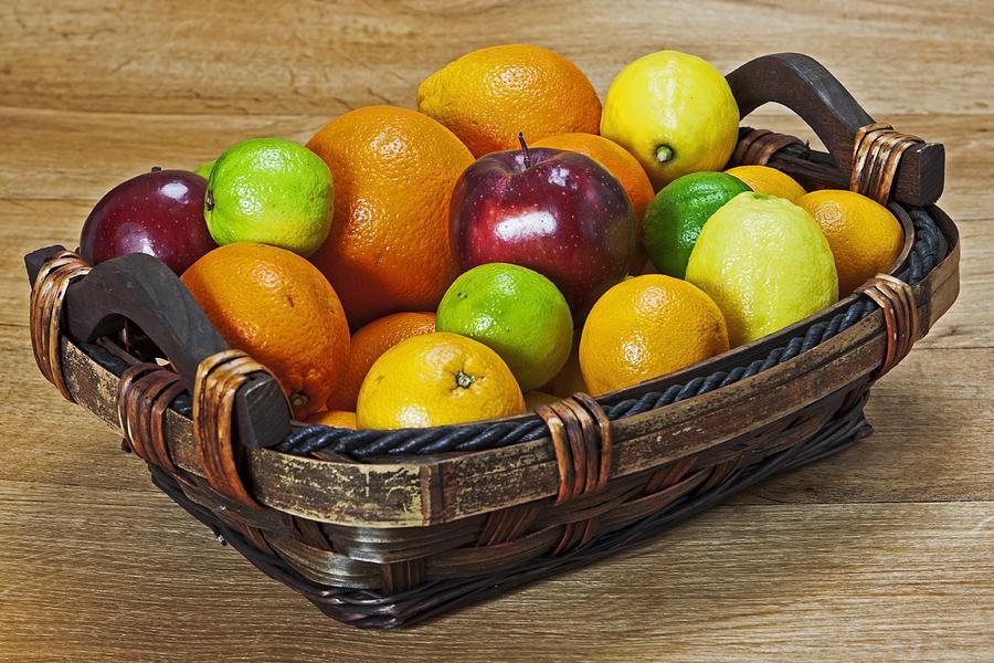Apple Photograph - fruits with vitamin C by Joana Kruse
