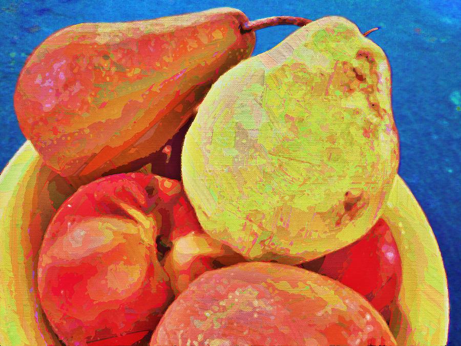 Bowl Digital Art - Frutbol by Ginny Schmidt