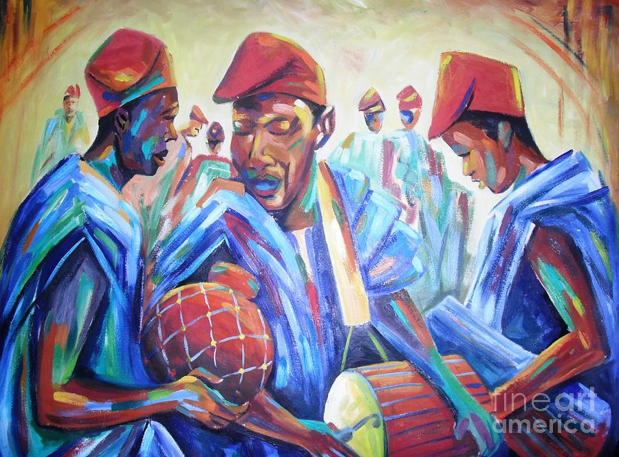 Fula Group Painting by Dennis Spaine