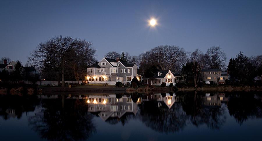 Full Moon Photograph - Full Moon Over Babylon by Vicki Jauron