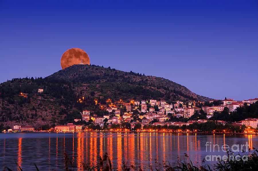 Landscape Photograph - Full Moon by Soultana Koleska