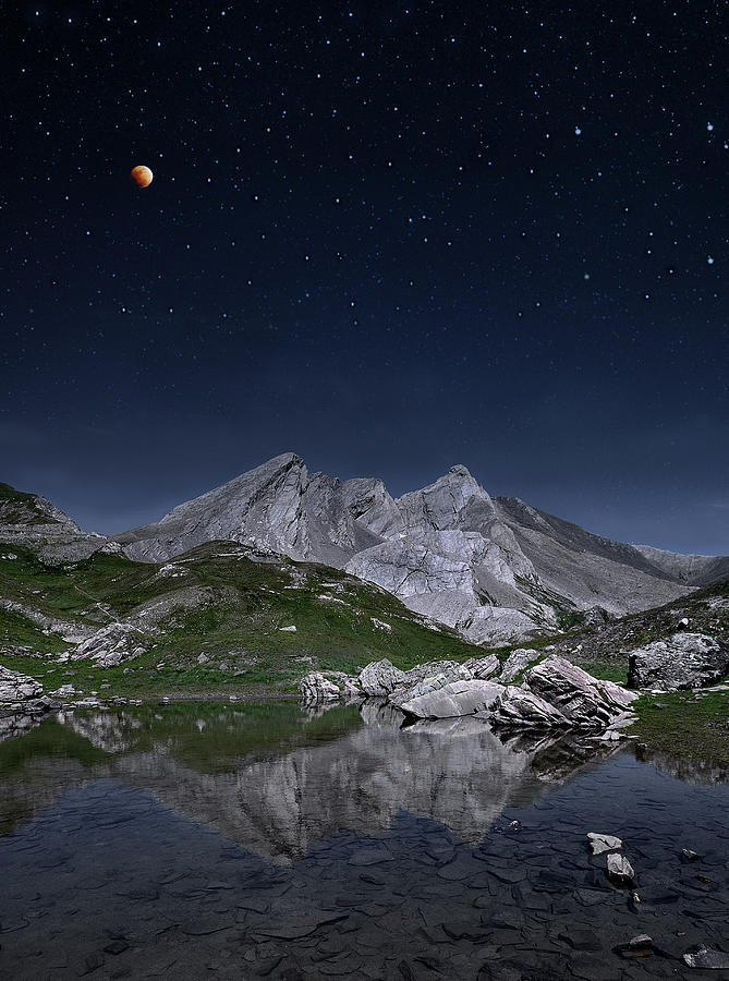 Vertical Photograph - Full Moon To Giants by © Yannick Lefevre - Photography