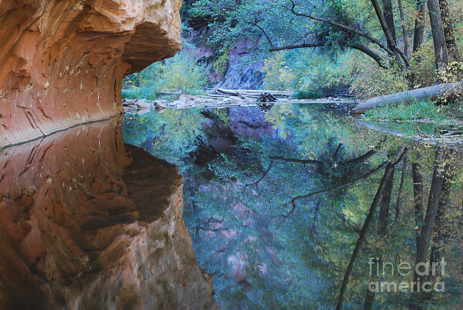 Sedona Photograph - Fully Reflected by Heather Kirk