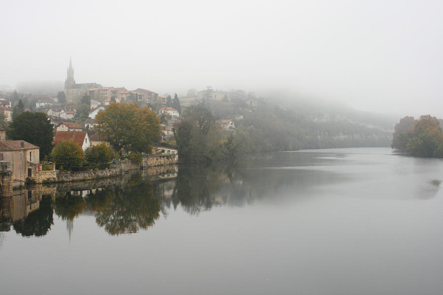 River Photograph - Fumel On A Misty Day by Georgia Fowler