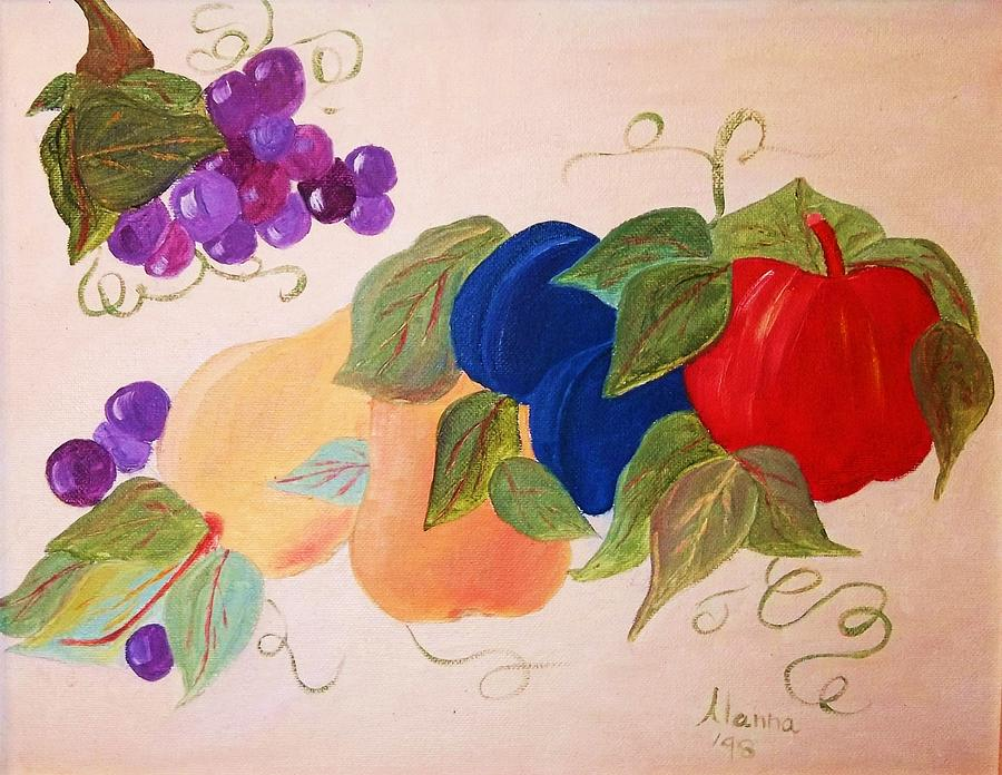 Fruit Painting - Fun Fruit by Alanna Hug-McAnnally