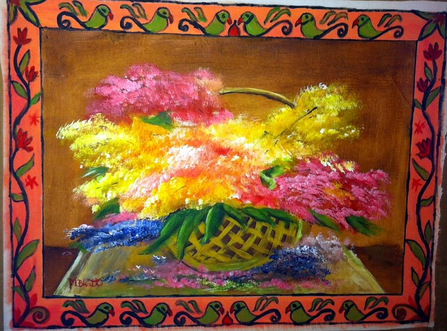 Floral Painting - Fun With Colors by M Bhatt