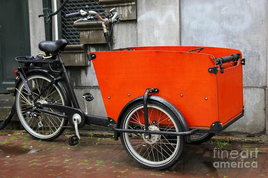 Bike Photograph - Funky Bike by Sophie Vigneault
