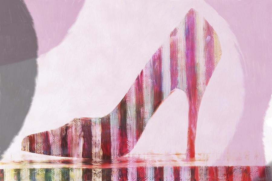 Shoe Digital Art - Funky Shoe by David Ridley