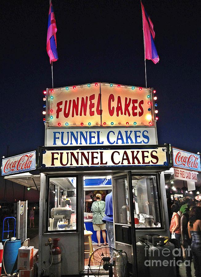 Festival Photograph - Funnel Cakes by Joan Meyland
