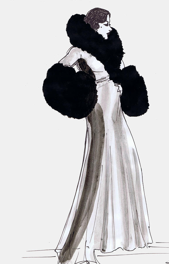 Fur Coat Drawing By Mel Thompson