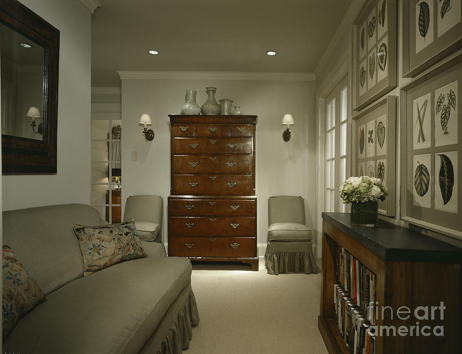 Architectural Detail Photograph - Furniture In Upscale Home by Robert Pisano