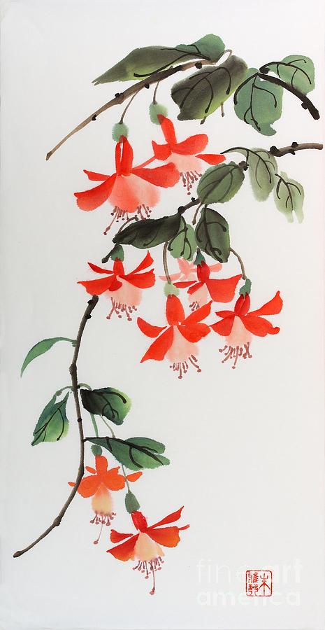 Flower Painting - Fuschia by Yolanda Koh