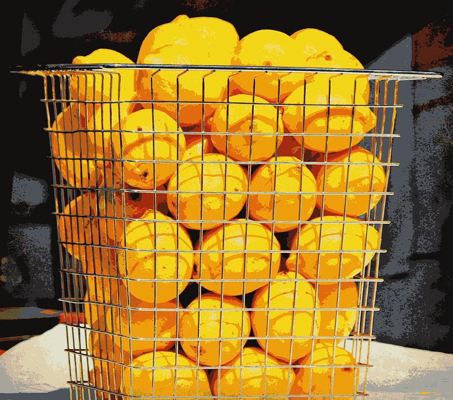 Basket Photograph - Future Lemonade by Jo Sheehan