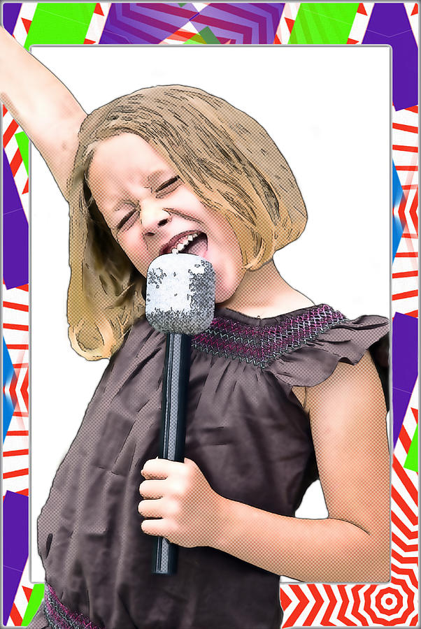 Young Photograph - Future Star Sing It Girl by Susan Leggett