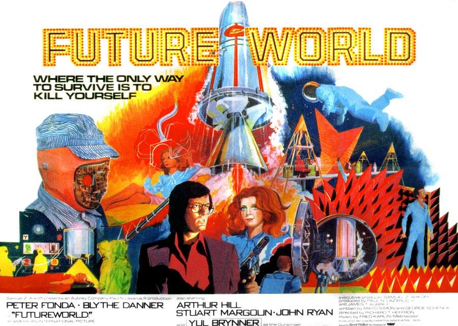 1970s Movies Photograph - Futureworld, Center, From Left Peter by Everett