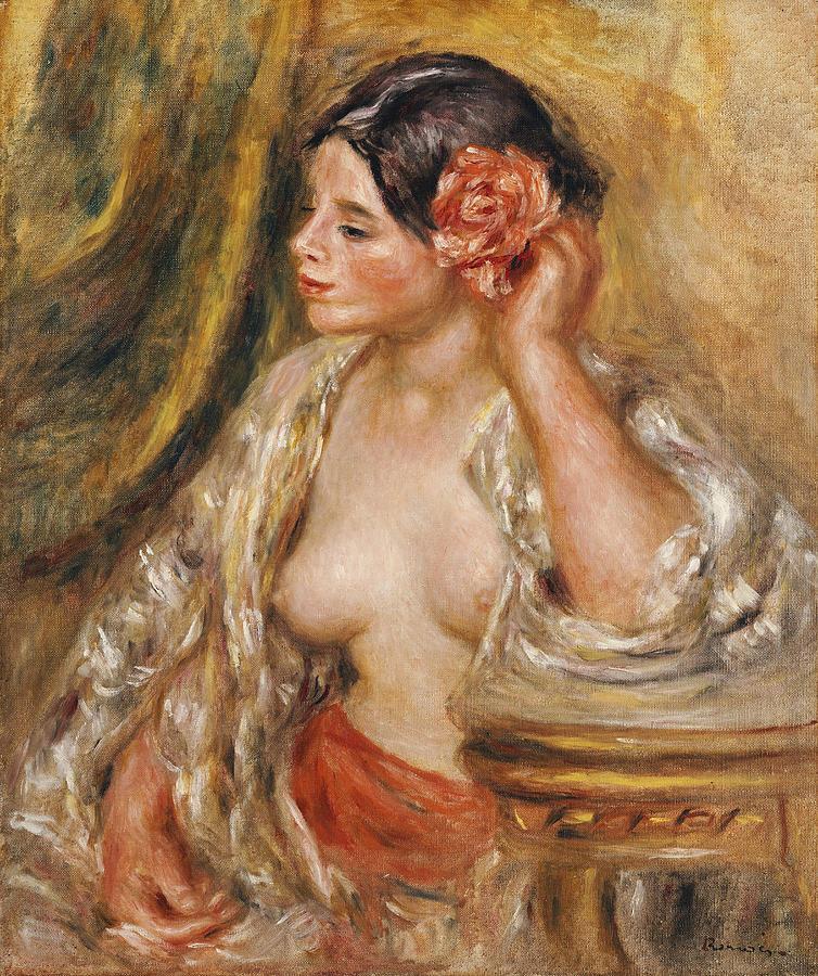 Pierre Auguste Renoir Painting - Gabrielle A Sa Coiffure by Pierre Auguste Renoir