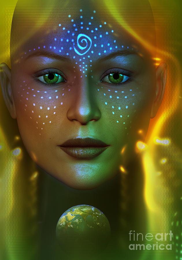 Earth Digital Art - Gaia 2 by Shadowlea Is