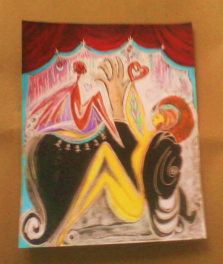 Healing Painting - Gaja Healing by Crystalin Ian