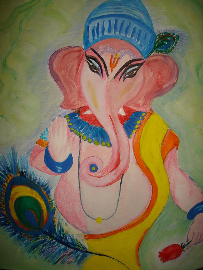 God Ganesha Painting - Gajodhar2 by Seema Sharma