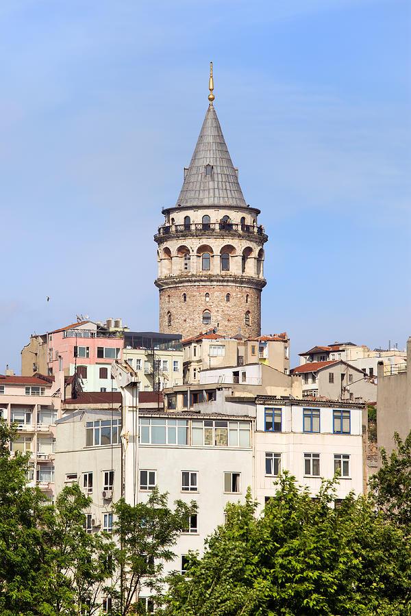 Galata Photograph - Galata Tower In Istanbul by Artur Bogacki