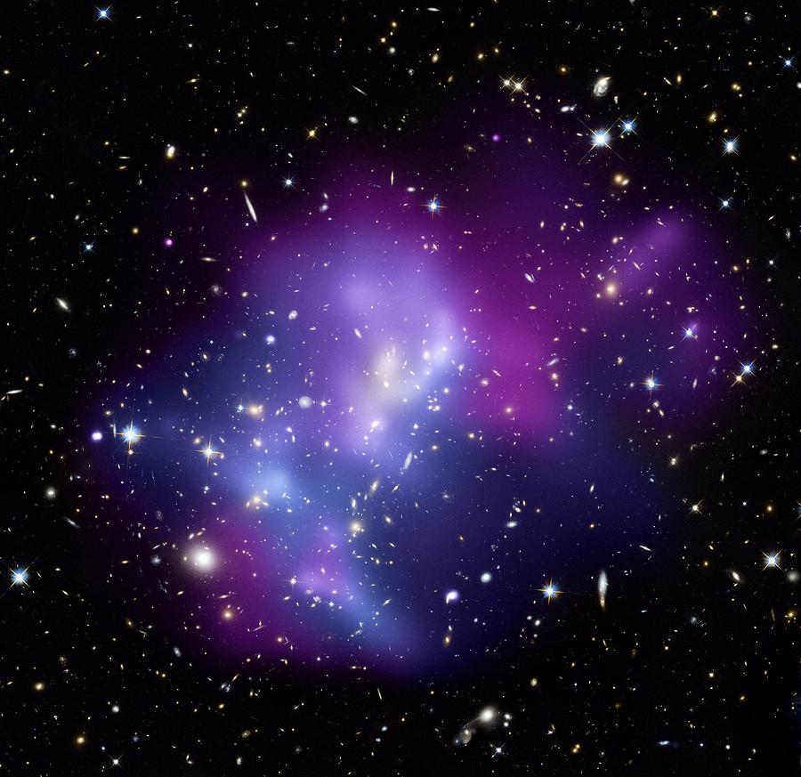 Macs J0717 Photograph - Galaxy Cluster Macs J0717 by Nasacxcstscima Et Al