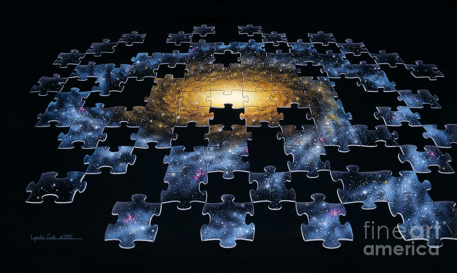 Lynette Cook Painting - Galaxy Puzzle by Lynette Cook