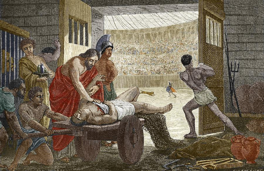 Claudius Galenus Photograph - Galen Treating A Gladiator In Pergamum by Sheila Terry