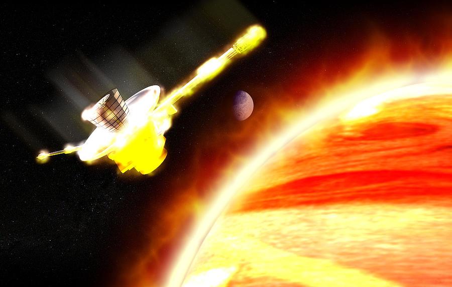 Galileo Photograph - Galileo Spacecraft Burning Up In Jupiter by Christian Darkin