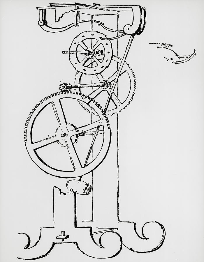 galileo u0026 39 s pendulum clock  first drawing  photograph by