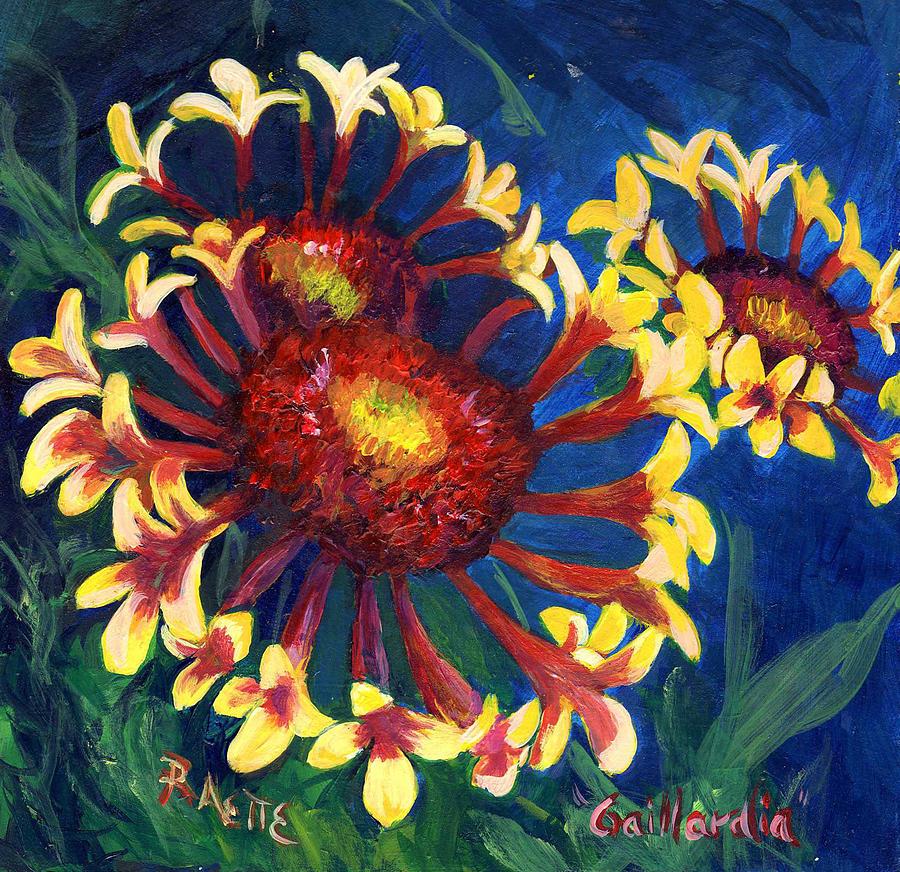 Blanket Flower Painting - Gallardia by Raette Meredith