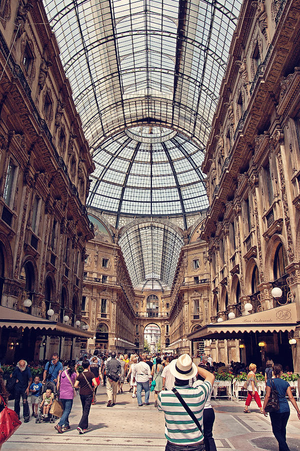 Italy Photograph - Galleria Vittorio Emanuele by Benjamin Matthijs