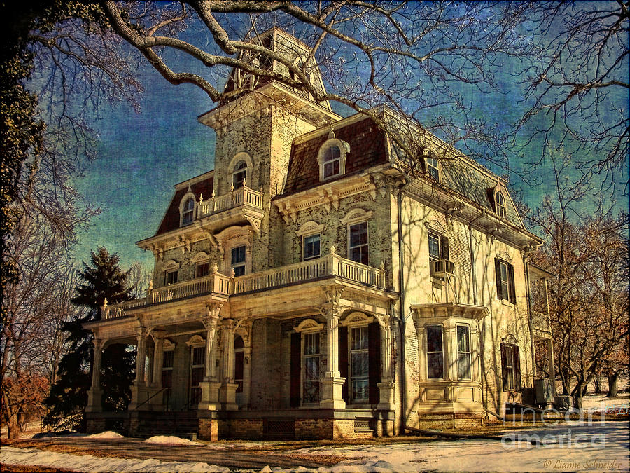 Architecture Photograph - Gambrill Mansion by Lianne Schneider
