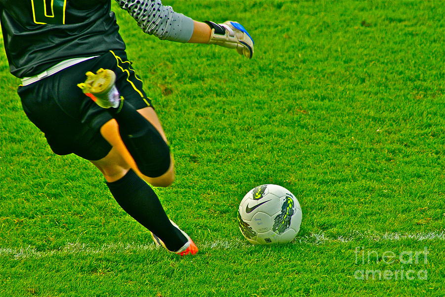 Game Photograph - Game Ball by Laddie Halupa