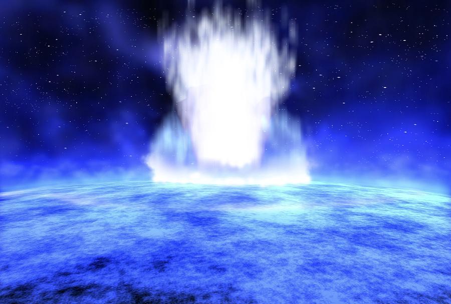 Illustration Photograph - Gamma Ray Burst Eruption by Nasa