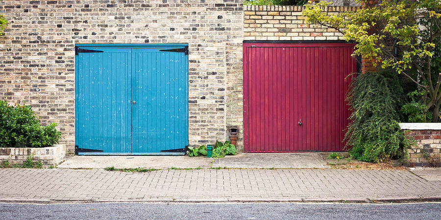 Attached Photograph - Garage Doors by Tom Gowanlock