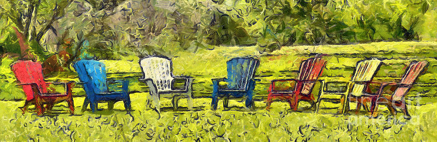 Garden Chairs 2 by Anne Kitzman