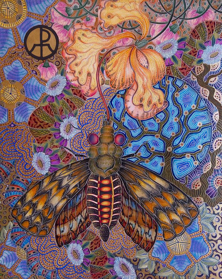 Garden of Eden - Moth by Ellie Perla