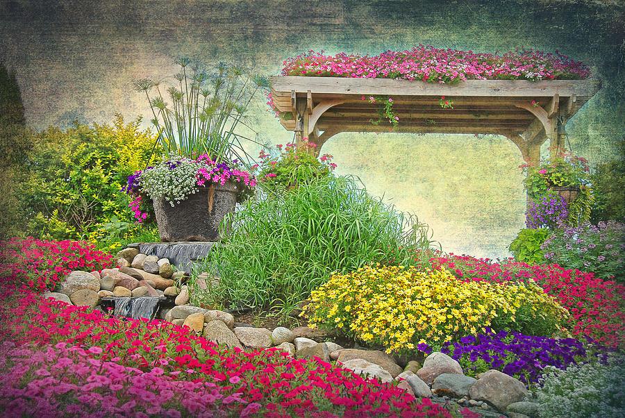 Garden of eden mixed media by maria dryfhout for Maria s garden center