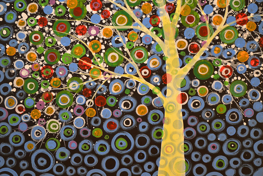 Tree Painting - Garden Of Moons #1 by Amy Giacomelli