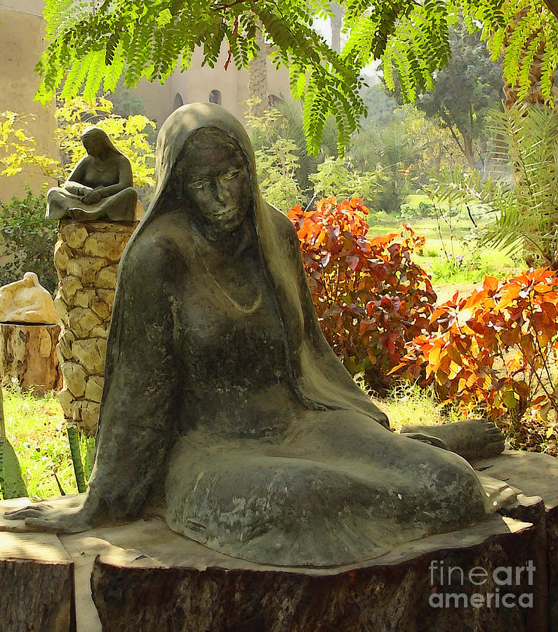 Garden Photograph - Garden Of Statues Egypt by Mary Machare