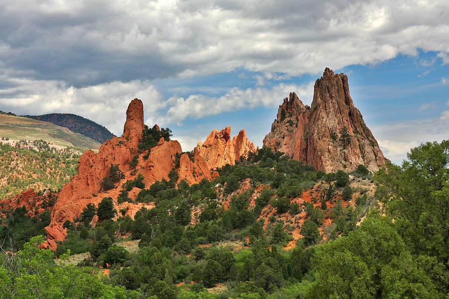 Natural Photograph - Garden Of The Gods - Colorado Springs Co by Christine Till