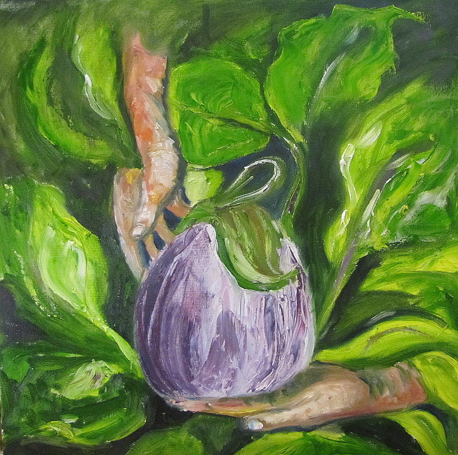 Vegtables Painting - Gardens bounty by Jenell Richards