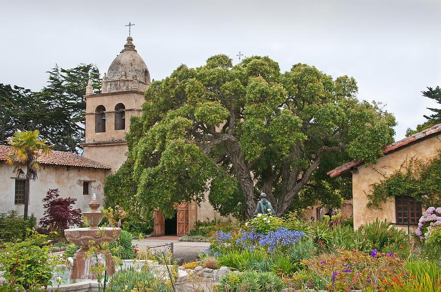 Carmel Mission Photograph - Gardens Of Carmel Mission by Kent Sorensen